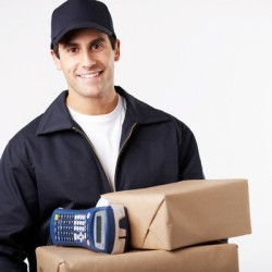 Delivery Man Holding Packages